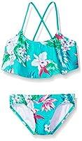 Kanu Surf Toddler Girls' Alania Floral Flounce Bikini Beach Sport 2-Piece Swimsuit Green 3T [並行輸入品]