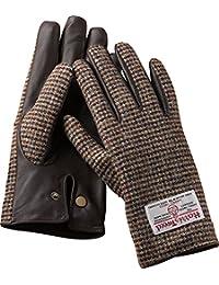 Harris Tweed ハリスツイード グローブ(メンズ) 手袋 (L, ブラウン)