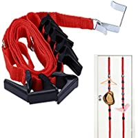 Tinksky Adjustable Door Back Hook Hanger Hat Bag Rack Holder Clothes Organiser (Random Colour)
