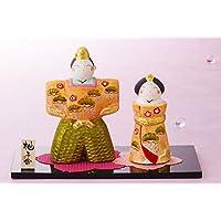 雛人形 コンパクト 人形師の手造り雛人形 柚子舎作 春舞立ち雛(大)スワロ付