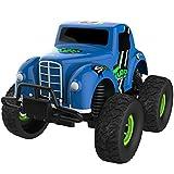 [ 4パック] Cars toys-friction Powered Diecastメタルモード車、衝撃吸収機能for Kids Toddlers男の子女の子ベビーMini Toyトラック。明るい色付きモンスターJamトラック。GREAT Pull Back Cars Gift for Children