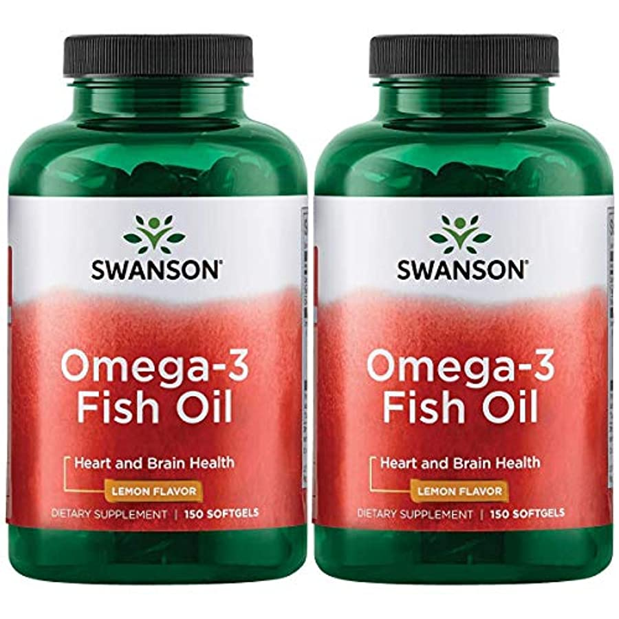 スタイル慢現代Swanson Omega 3 Fish Oil EPA + DHA Lemon Flavor 150粒×2個