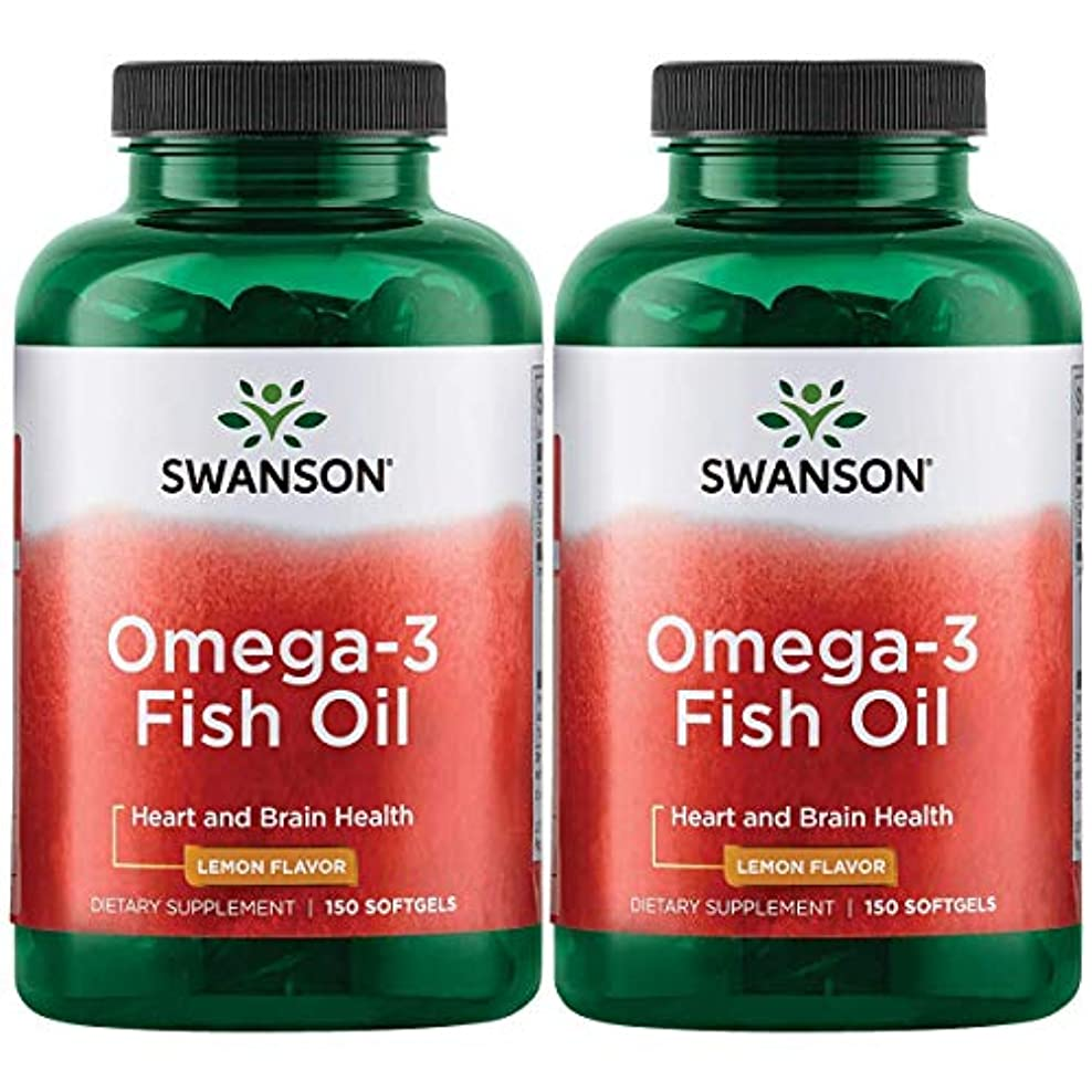 パーツおいしい七面鳥Swanson Omega 3 Fish Oil EPA + DHA Lemon Flavor 150粒×2個