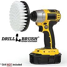 Softer Bristle Scrub Brush 13cm Round with Power Drill Attachment