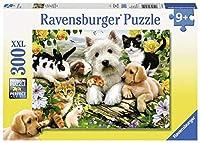 300ピース ジグソーパズル  みんな幸せ Fröhliche Tierfreundsch.  (49 x 36 cm)