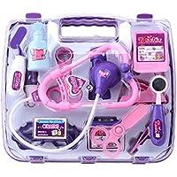 Aisa Children Toy Set Simulation Hospital Medical Case Doctor Nurse Party Game Medicine Box Toys Purple