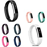 Fitbit Alta HR / Fitbit Alta Replacement Band, Zodaca Colorful Replacement Band Adjustable Wristband With Double Clasp For Alta HR / Fitbit Alta (Tracker is not included)