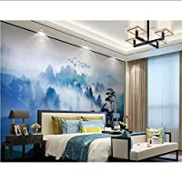 Lcymt 森の風景画壁紙壁紙壁画ステッカーリビングルームの寝室3D自己接着ビニール/シルクの壁紙-350X250Cm