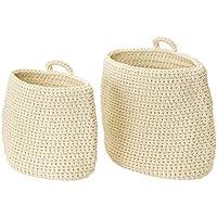 IKEA/イケア NORDRANA:バスケット2個セット オフホワイト (103.363.42)