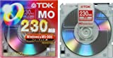TDK 3.5MO 230MB Winフォーマット5枚パック MO-R230DX5A