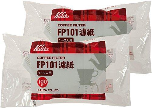 カリタ コーヒーフィルター FP101濾紙(1~2人用) 100枚入り ホワイト 2袋セット #11109