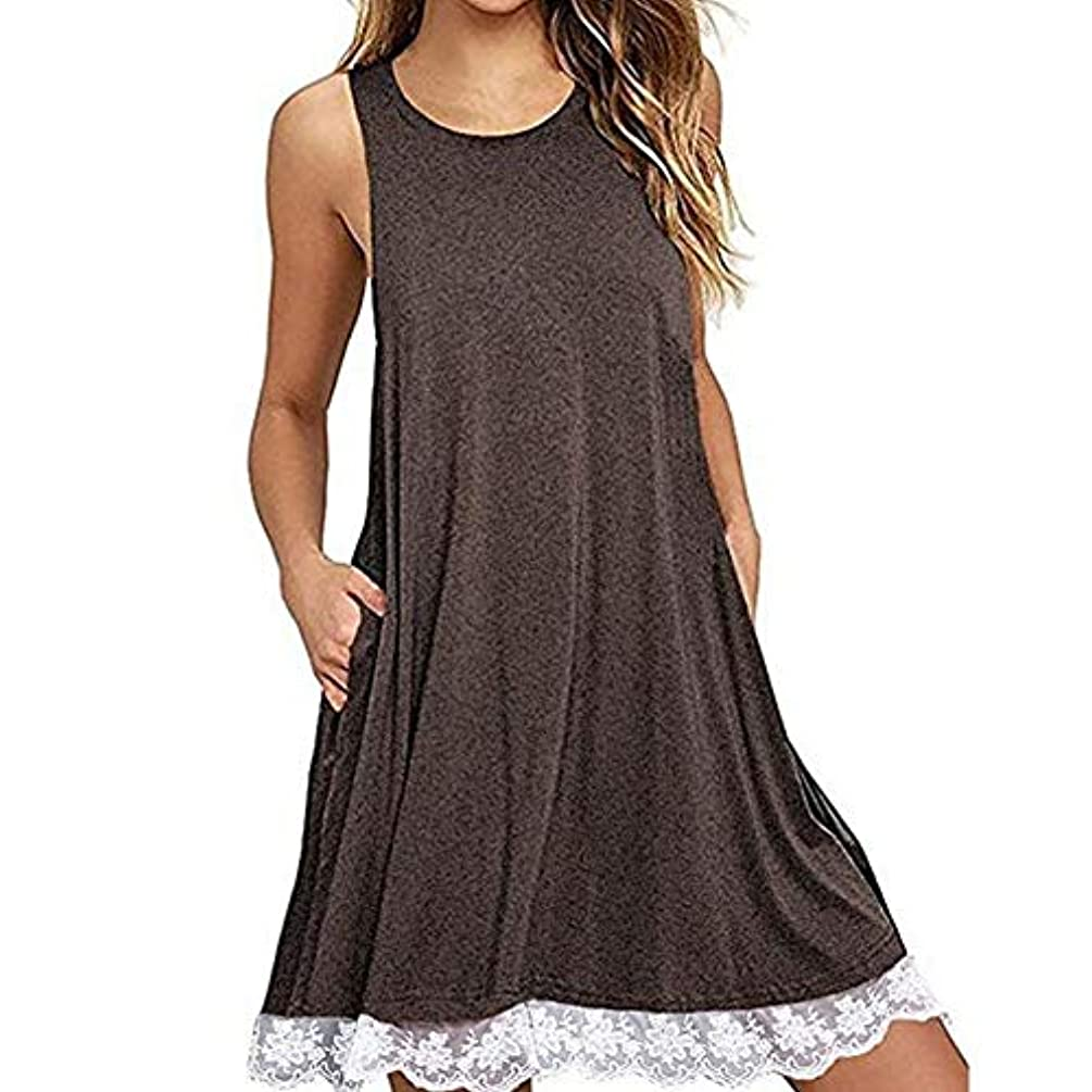 規模カブれるMIFAN の女性のドレスカジュアルな不規則なドレスルースサマービーチTシャツドレス