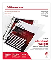 Office Depot Standard Weight Sheet Protectors, 8 1/2in. x 11in, Clear, Pack of 200, OD491694 [並行輸入品]