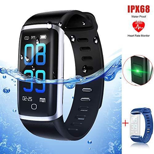 2018最新版 スマートウォッチ 心拍計 血圧測定 腕時計 ...