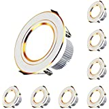 Recessed Ceiling Light Dimmable, Slim Aluminum LED Downlight, 8 Packs Ultra-Thin Recessed Lighting Fixture for Home Office Market,15w