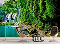 Minyose カスタム写真の3D壁紙風景の滝の壁紙はリビングルームの寝室の壁紙のための絵画をカバー-450cmx300cm