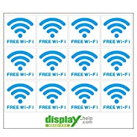 FREE Wi-Fi ミニシール ステッカー 5cm×5cm 【12枚セット】