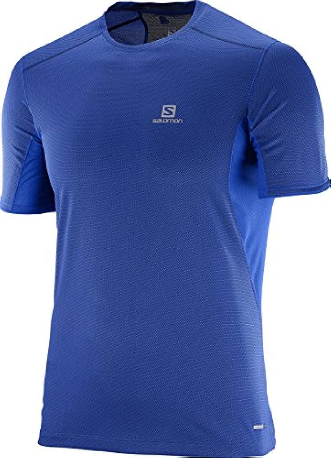 トラブル価値結び目(サロモン)SALOMON ランニングシャツ TRAIL RUNNER 半袖 Tシャツ M