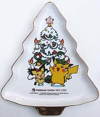 ポケモンセンターニューヨーク限定ピカチュウ&ピチュークリスマスツリープレート皿 New York アメリカbi