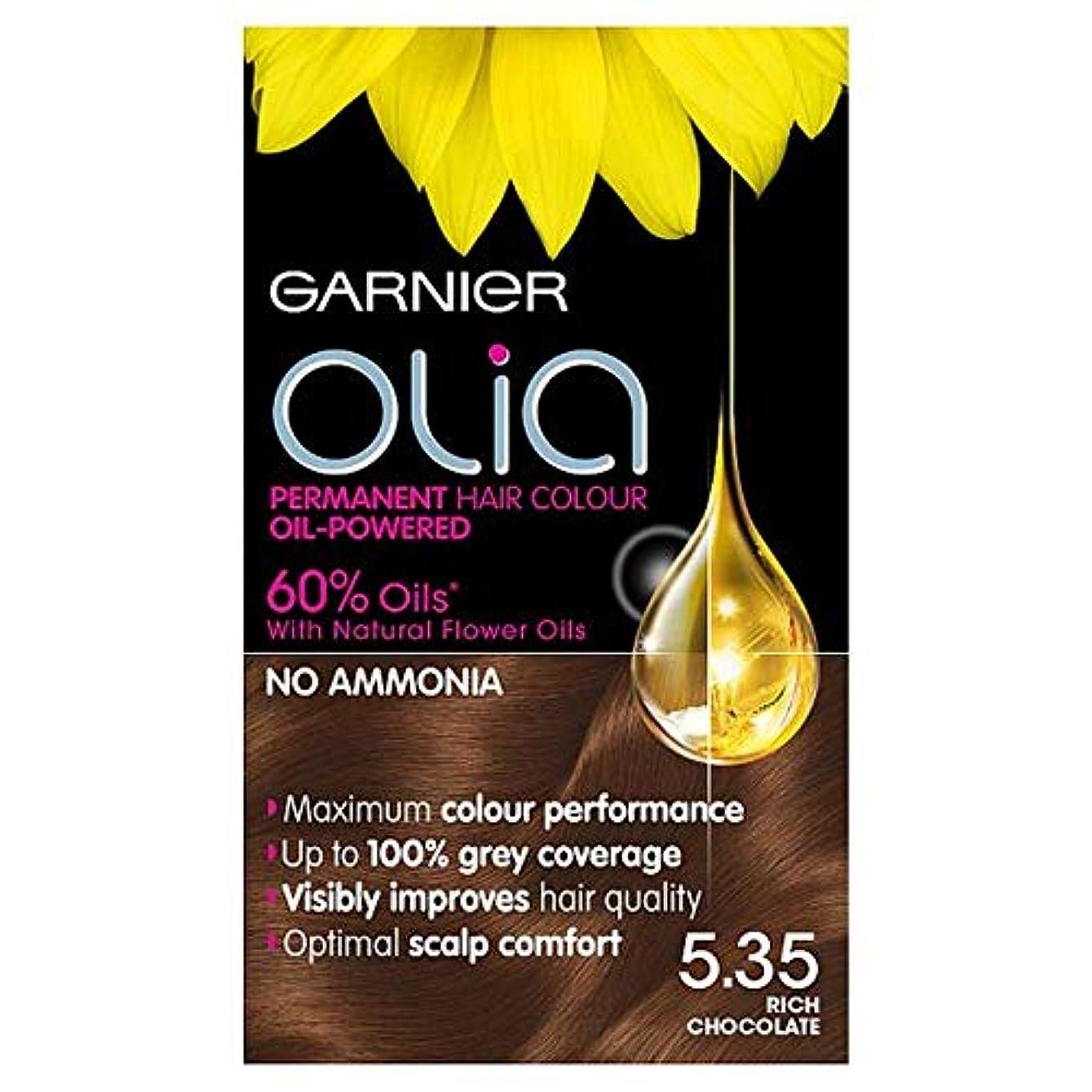 不適切なせがむ自信がある[Garnier ] ガルニエのOlia 535豊かなチョコレートブラウンの永久染毛剤 - Garnier Olia 535 Rich Chocolate Brown Permanent Hair Dye [並行輸入品]