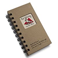 1 X Bird Watching, My Bird Journal - MINI Natural Kraft Brown Hard Cover (prompts on every page, recycled paper, read more...) by Write It Down