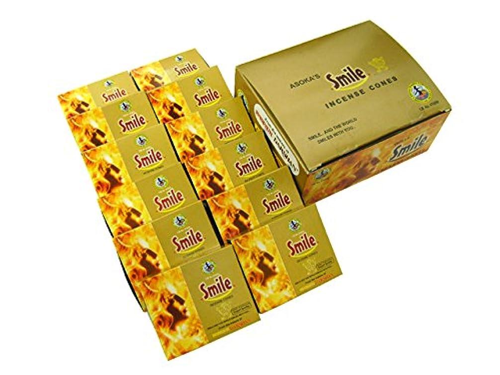病気だと思う知的褐色ASOKA TRADING(アショーカ トレーディング) スマイル香コーンタイプ TRADING SMILE CORN 12箱セット