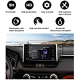 YEE PIN Screen Protector for 2019 XA50 RAV4 Entune Center Control Touch Screen, Car Navigation Display Glass Protective Film HD Anti-Explosion (8-inch)