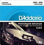【2セット】D'Addario ダダリオ EJ69 5弦 バンジョー弦 Phosphor Bronze