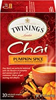 Twinings Pumpkin Spice Chai, 20 Count (Pack of 6), (Packaging may vary) by Twinings