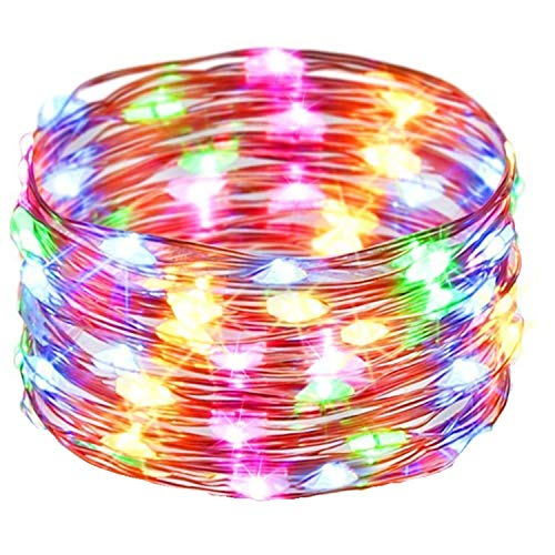 J-JUMP(ジェージャンプ)イルミネーションライトLEDストリングライト電池式装飾ライト5m50LEDフェアリーライト LEDガーデンライト飾り クリスマスツリー/パーティー/ベッドルーム/アウトドア/結婚式/庭対応 (四色)