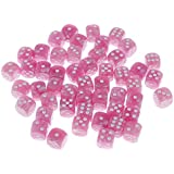 Sharplace 約50個 スポットダイス デジタルダイス 全5色 - ピンク