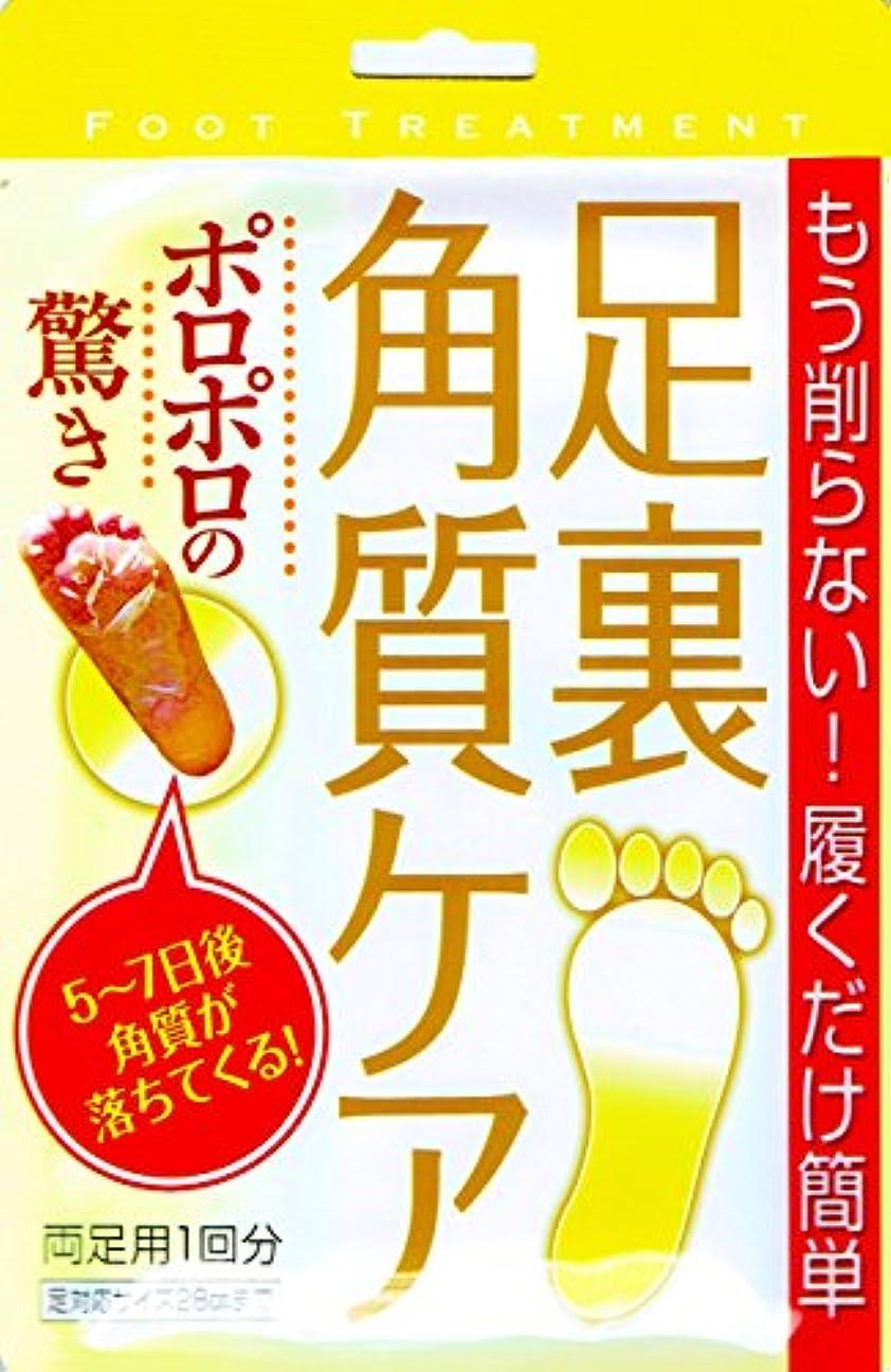 褐色温かいワンダー足裏 角質ケア両足分1回分 KフットパックA ポロポロの驚き もう削らない! 履くだけ簡単