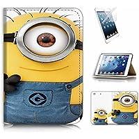 ( For iPad Mini 4 Generation 4 ) Flip Case Cover and Screen Protector Bundle A9467 Minion [並行輸入品]