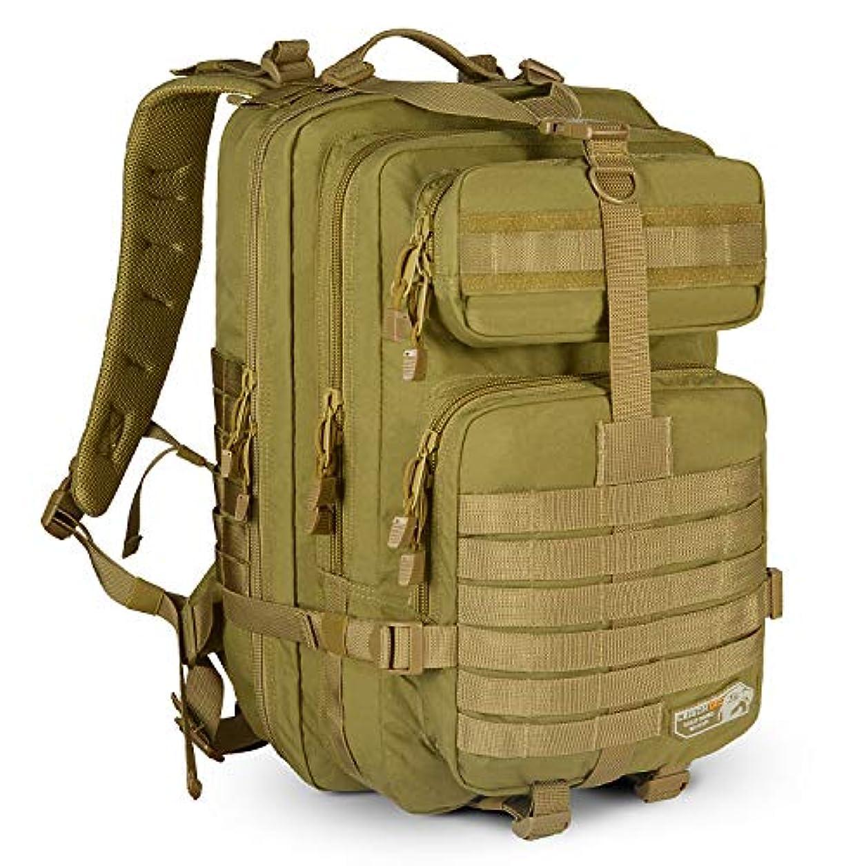 ミリメーターベリ間違いなくSunsion MTB-130 ミリタリータクティカルアサルトバックパック ハイキングバッグ 超防水 リュックサック MOLLEバグアウトバッグ 旅行 キャンプ トレッキング ハイキング用 43L