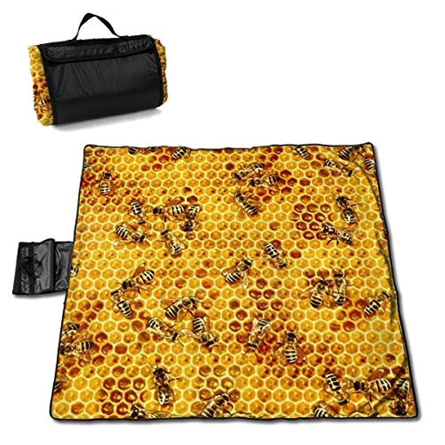 包囲先史時代のマイコン蜂蜜の蜂の巣の蜂 ピクニックマット レジャーシート ファミリー レジャーマット 防水 防潮 マット 折り畳み 持ち運び便利 四季適用び おしゃれ花火大会 運動会 遠足 キャンプ 145×150cm