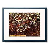 アルブレヒト・アルトドルファー Albrecht Altdorfer 「アレクサンダー大王の戦い Die Alexanderschlacht」(部分)_5 額装アート作品
