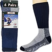 Mens Womens Thermal Socks Heavy Extreme Cold Weather Boot Socks 6-pack By DEBRA WEITZNER