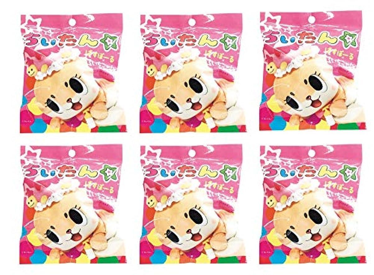 バイナリ子犬対称ちぃたん☆ ばすぼーる マスコット入りバスボール 炭酸入浴料【 6個セット 】