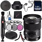 シグマ50mm f / 1.4DG HSM Artレンズfor Nikon F # 311306+ 77mm 3Pieceフィルタキット+ 128GB SDXCメモリカード+レンズペンクリ..
