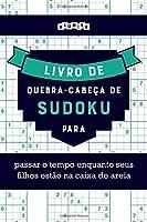 Livro de quebra-cabeças de Sudoku para passar o tempo enquanto seus filhos estão na caixa de areia