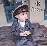 [milky time]ベビー 赤ちゃん キッズ ジャケット 上着 フォーマル 綺麗め 結婚式 入園 七五三 男の子 秋冬春