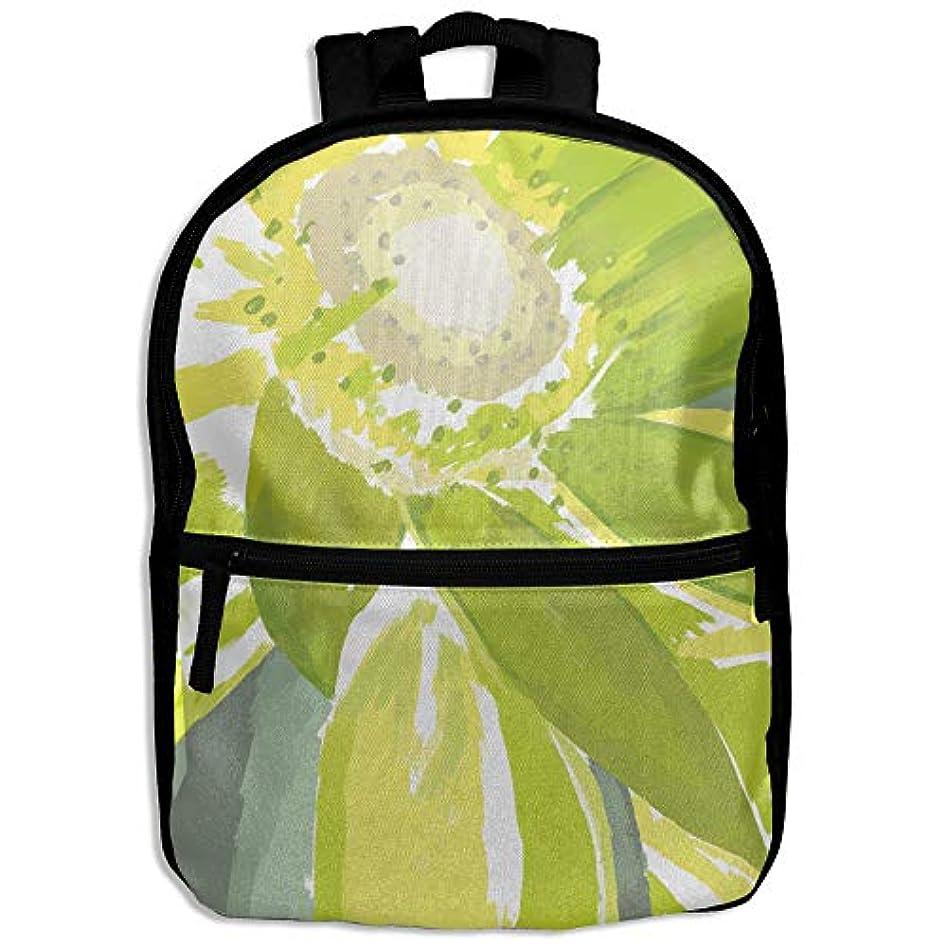 セッティングいろいろ科学的キッズバッグ キッズ リュックサック バックパック 子供用のバッグ 学生 リュックサック 緑の花 日差し アウトドア 通学 ハイキング 遠足