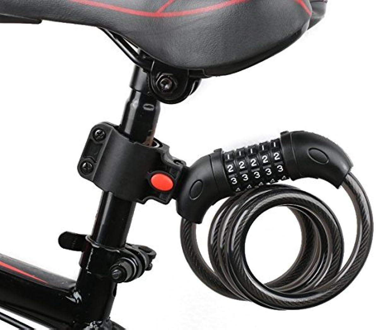 以前はスチュワーデス淡いバイク ダイヤルロック ワイヤーロック 自転車ロック 長1200mm 横断面直径12mm 5桁 防盗