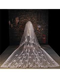 シュウクラブ- 花嫁のヘッド糸ロングト??レーリングレースレースヘッド糸ウェディングベールの花嫁韓国のベール