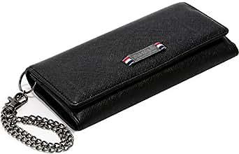(マルカワジーンズパワージーンズバリュー) Marukawa JEANS POWER JEANS VALUE 財布 メンズ 長財布 合皮 三つ折 チェーン 2color Free ブラック