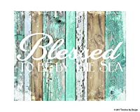 """ Blessed by the Sea""ガラスカッティングボードby Timeless byデザイン