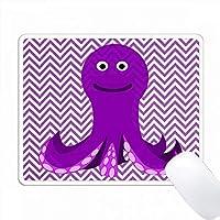Red Violet Octopusのレッドバイオレットシェブロンストライプの印刷 PC Mouse Pad パソコン マウスパッド