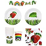 The Very Hungry Caterpillar Party Supplies Pack for 12 Guests Including Plates, Napkins, Cups And 2.7m Banner