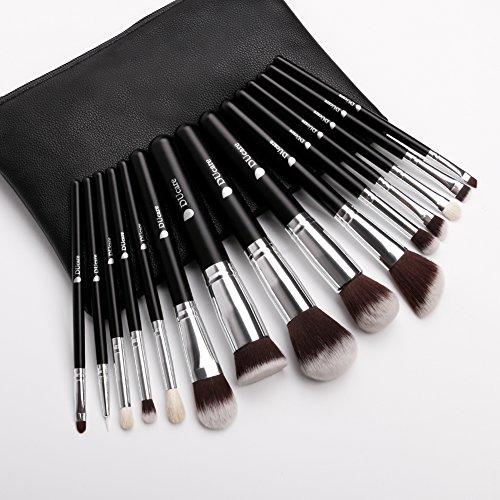 DUcare ドゥケア 化粧筆メイクブラシ 15本セット 高級天然毛 レザー風化粧ポーチ付き