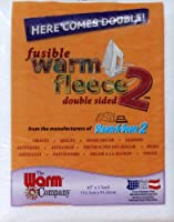 Warm Fleece Polyester Double Sided Fusible Batting